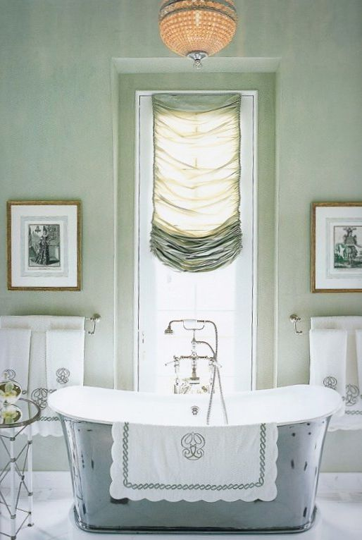 Gray and green gorgeousness bathrooms pinterest