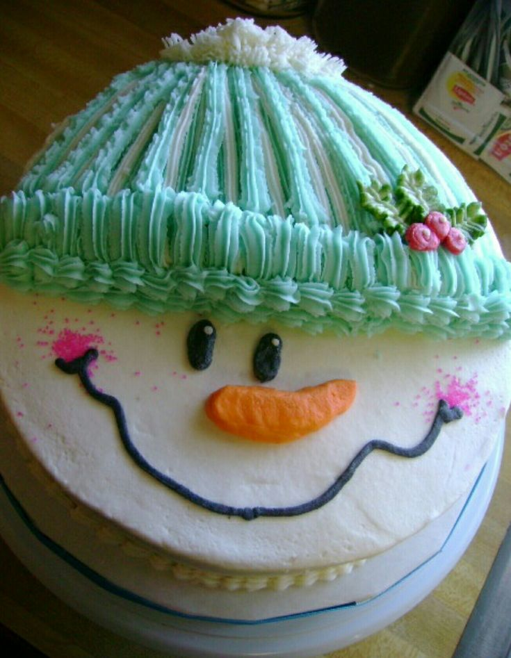 Snowman cake cake recipes and decorating Pinterest Snowman
