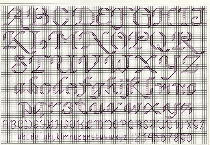 Patrones letras punto de cruz gratis / Sony xperia zr