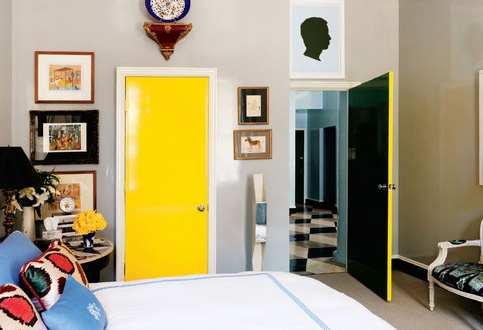 Miles Redd; yellow door.