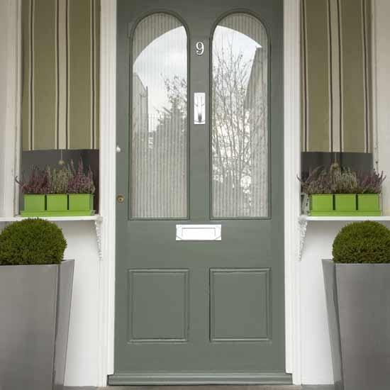 Front Door Grey Green Home Outdoors Pinterest