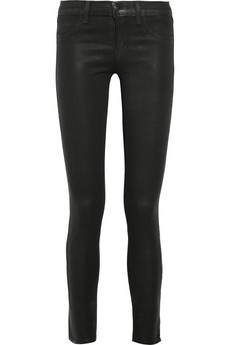 J Brand 901 Stonehenge Brand   901 low-rise coated leggings-style jeans   NET-A-PORTER.COM