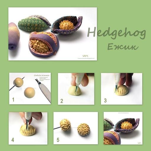 hedgehog technique | polymer clay tutorials | Pinterest