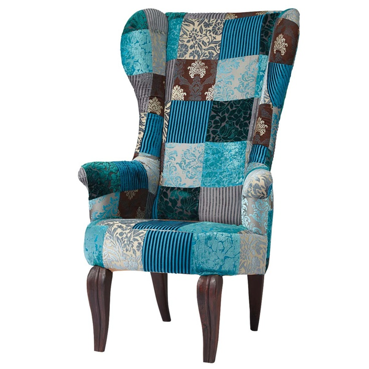 Patchwork chair furnishings pinterest for Sofa ohrensessel