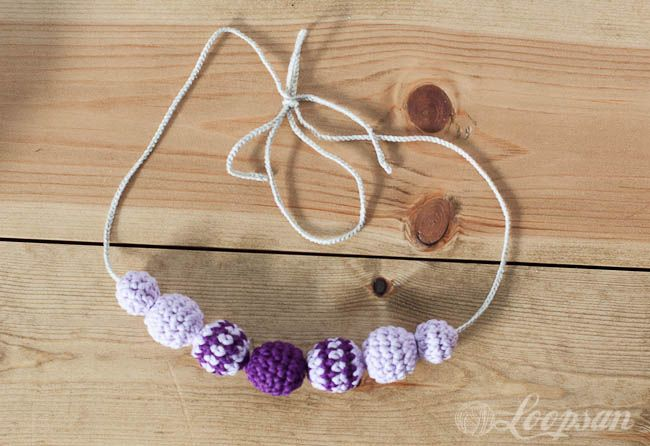 Crochet Tutorial Necklace : Crochet Bead Necklace. Tutorial Yarn! and many other things:) Pin ...