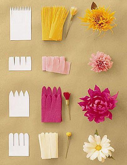 Цветы из бумаги своими руками для детей пошаговое фото