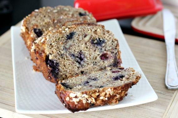 Blueberry banana oatmeal bread | Yummy Recipes | Pinterest