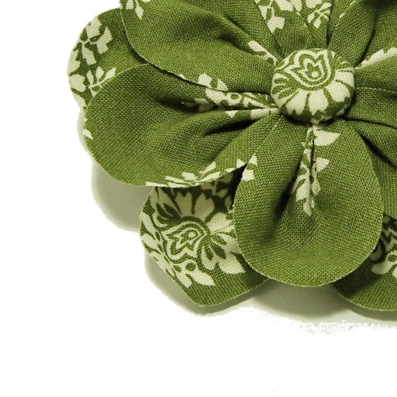 Fabric Flower Headband or Hair Clip Convertible in by BettyBowBlue, $12.00