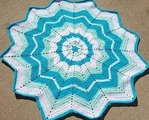 Round Granny Crochet Pillow Pattern - Petals to Picots