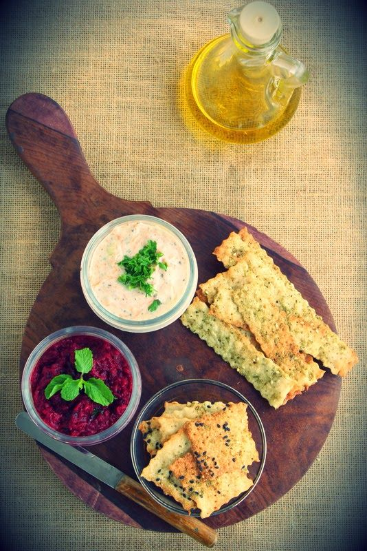 ZA'ATAR LAVASH CRACKERS w/ TAHINI BEETROOT DIP A few years back, my ...