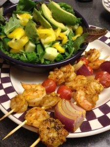 Shrimp Curry Kabobs