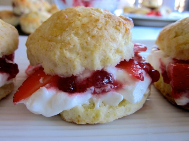 Buttermilk Scones with Strawberries and Cream from My Favorite Pastime ...