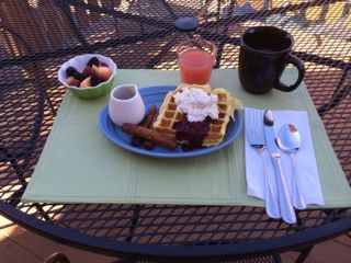 . Lemon Ricotta Waffles with Mixed Berry Compote & Cardamom Cream ...