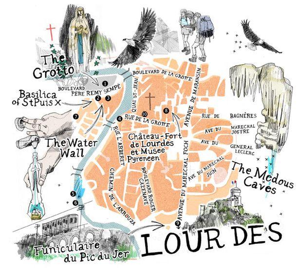 Andy Macgregor Map Of Lourdes Work Inspiration Pinterest