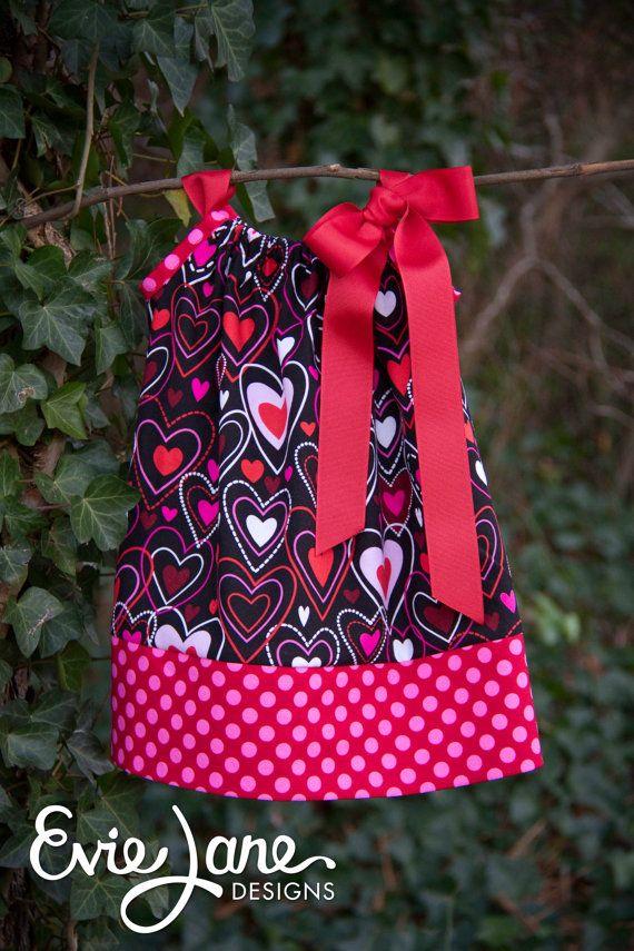 valentines hearts pillowcase dress