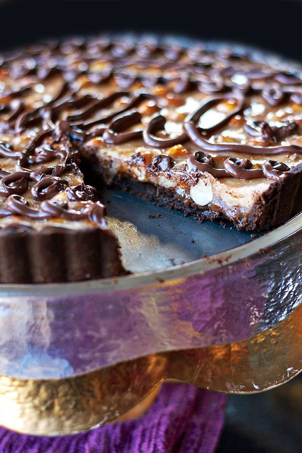 Chocolate Caramel Hazelnut Tart | Recipes to try | Pinterest