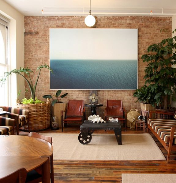 super simple landscape (and how to mount a big photo on plywood