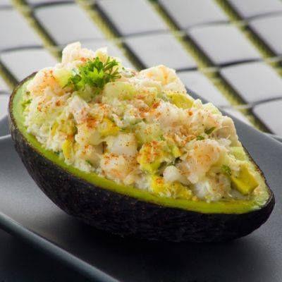 ... avocado salad cilantro lime crab salad in avocado halves flickr photo