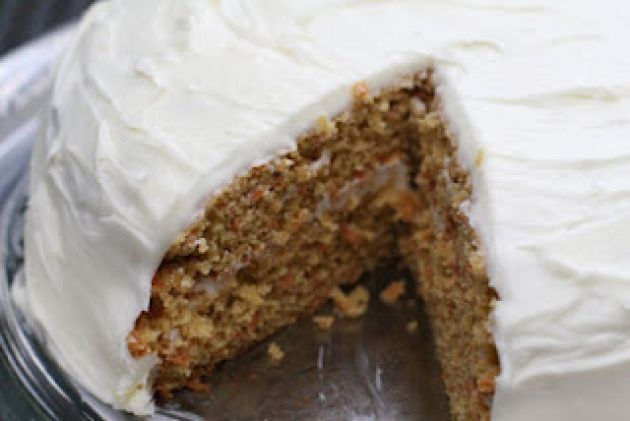 Quinoa Carrot Cake with Maple Cream Cheese Frosting, oh my!