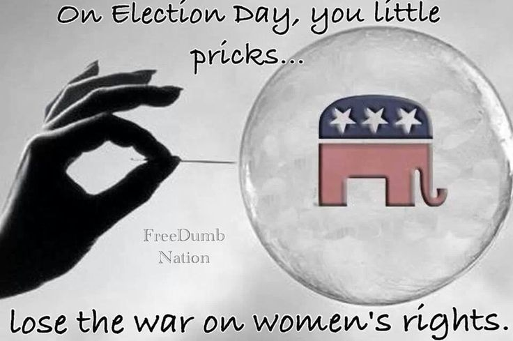 VOTE THE WOMAN HATING GOP OUT in 2014!