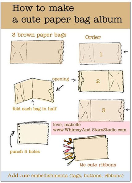 How to make paper bag album