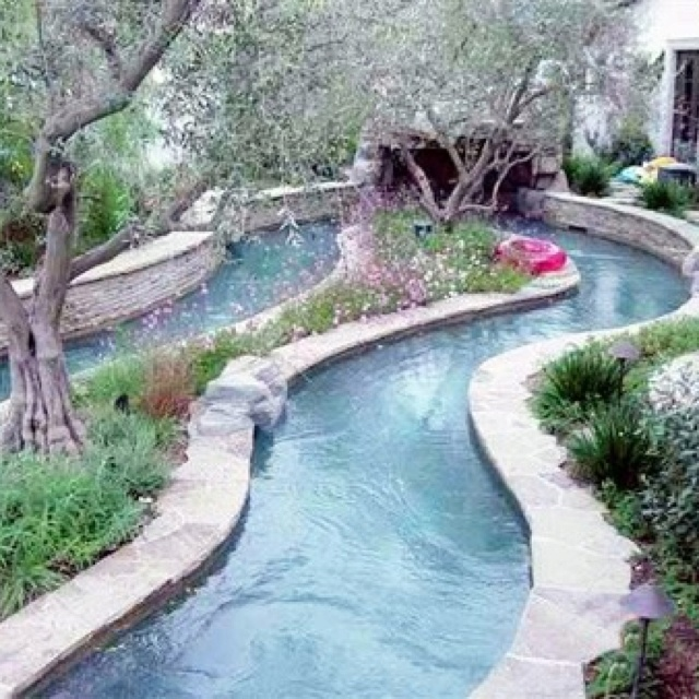 Building A Lazy River In Backyard : backyards