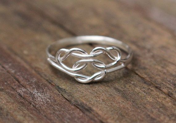 triple knot ring celtic love knot mothers ring bridesmaid. Black Bedroom Furniture Sets. Home Design Ideas