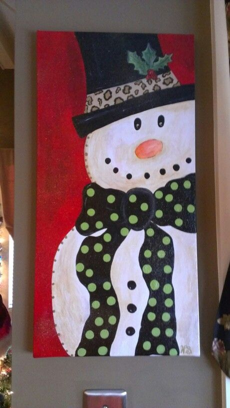 Christmas snowman painting things to paint pinterest for How to paint snowmen