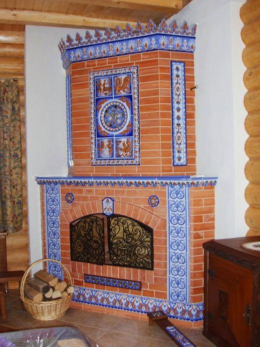 Как украсить печь в доме своими руками в деревянном доме 84