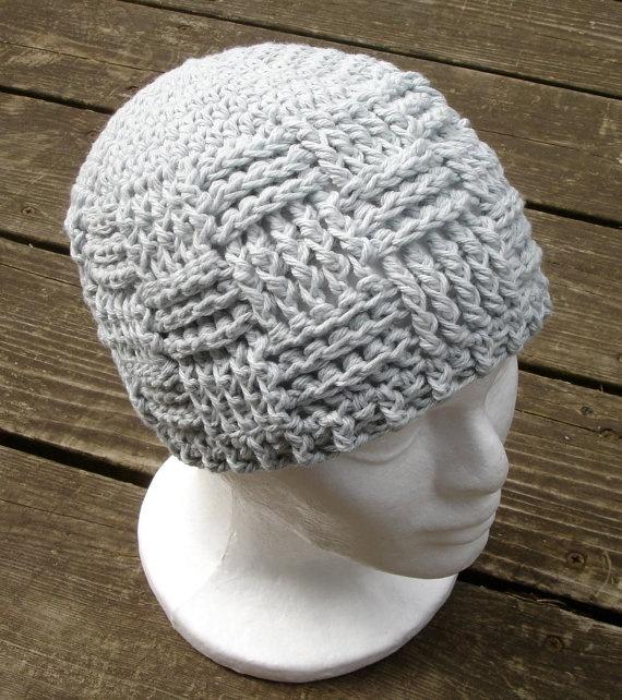 Crochet Pattern for Unisex Basket Weave Beanie - 8 sizes ...
