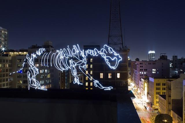 Dinosaurs aglow