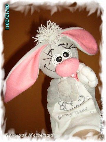 Заяц перчатка