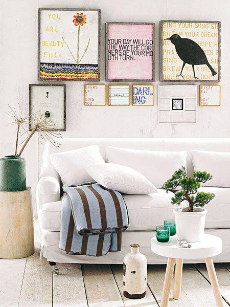 Wandgestaltung mit Fotos Vintage Eclectic HOME Pinterest