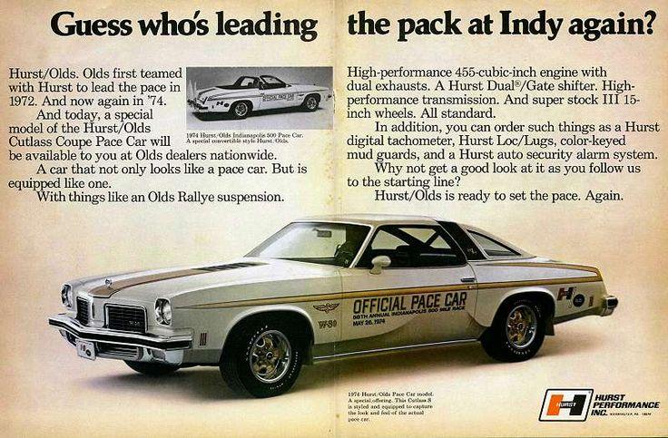 1974 hurst olds indy 500 pace car oldsmobile pinterest. Black Bedroom Furniture Sets. Home Design Ideas