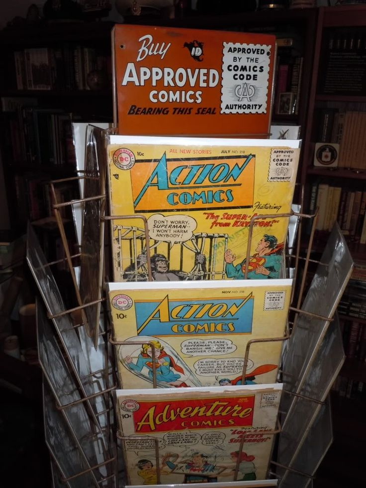 Vintage comic rack comics pinterest - Comic book display shelves ...