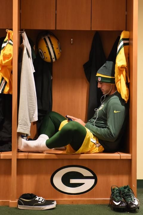 he is the cutest... Aaron Rodgers 10/2/2014