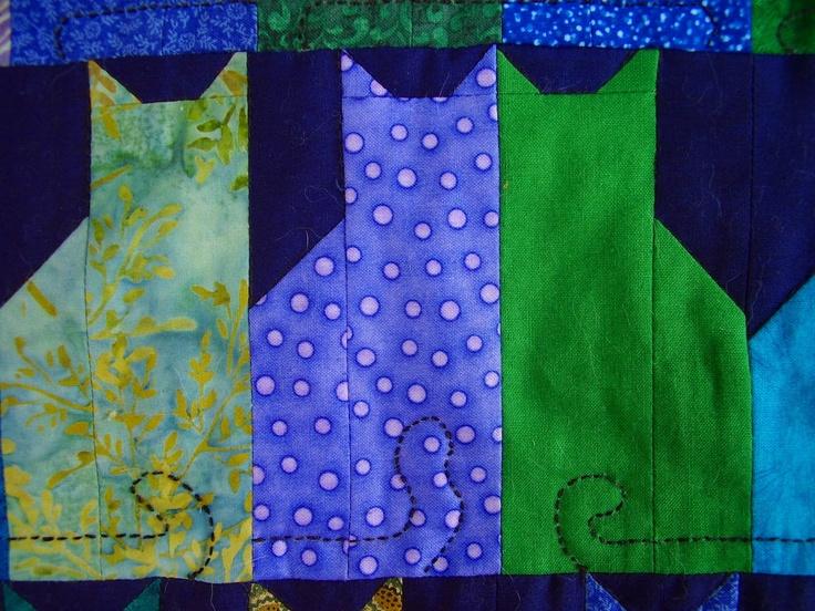 cat quilt block pattern C?t ?tUfF Pinterest