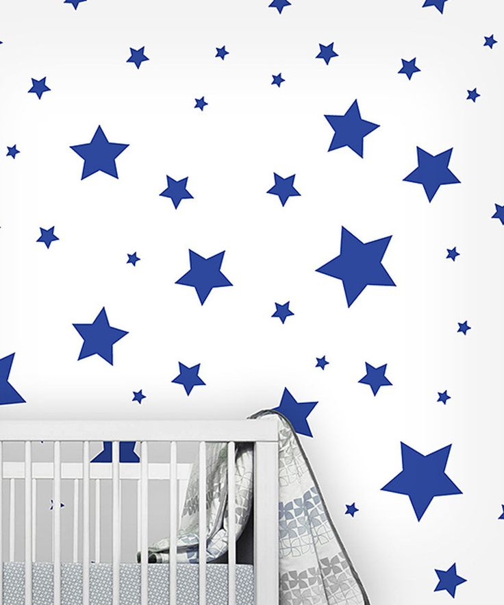 Blue Star Wall Decor : Blue star wall decal set