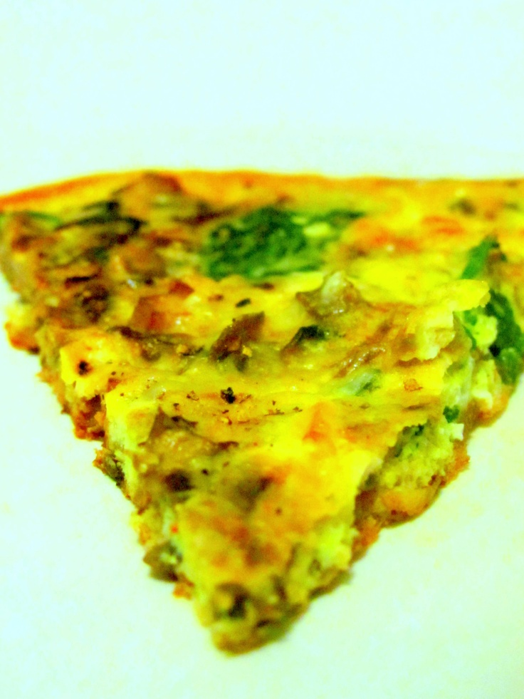Spinach and Mushroom Frittata | breakfast ideas | Pinterest