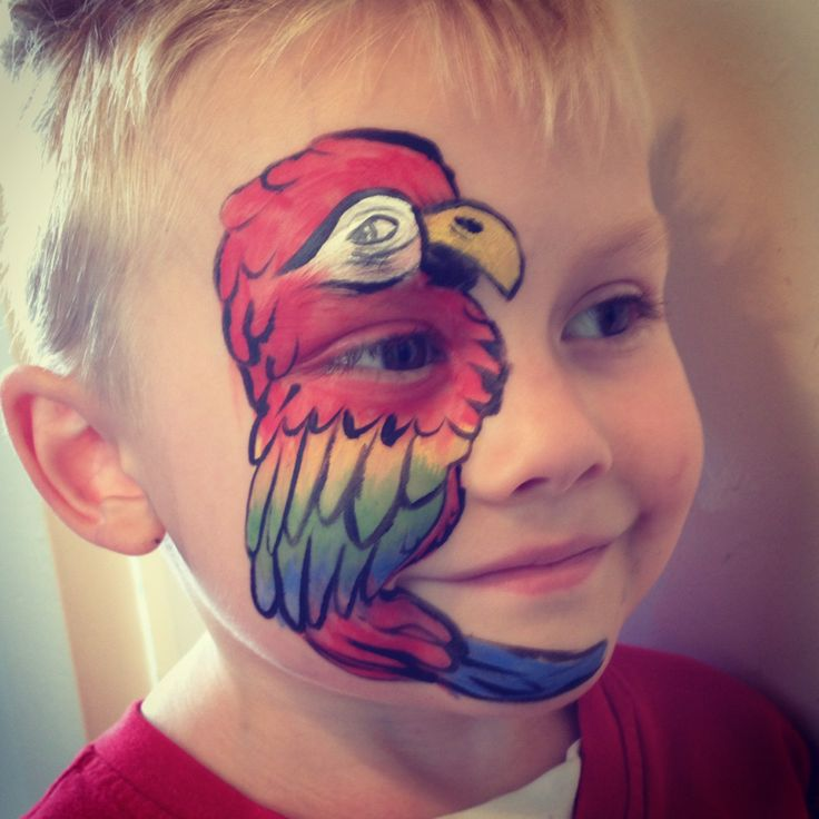 Gallery For gt Easy Parrot Face Paint