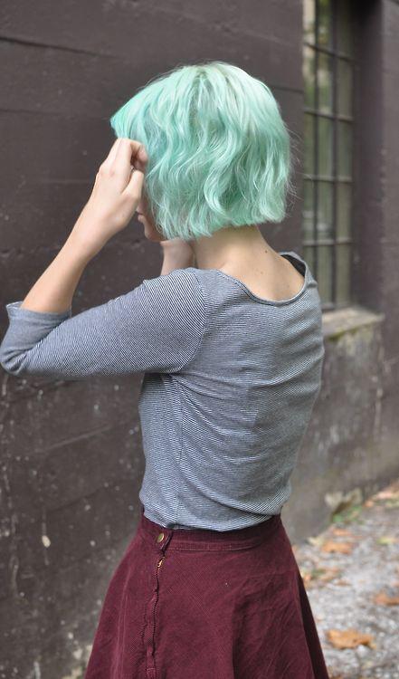 Cool Pastel Green Hair #briteorganix