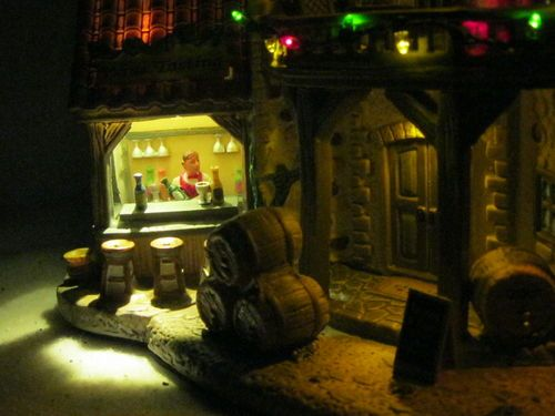 2009 lemax carole towne collection chambon winery christmas village