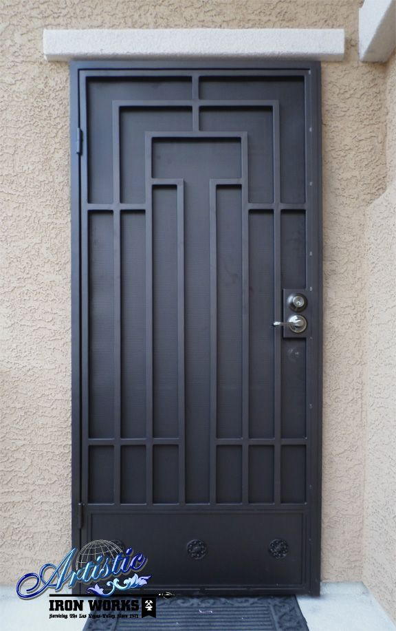 Pin by artistic iron works on wrought iron security doors for Wrought iron security doors