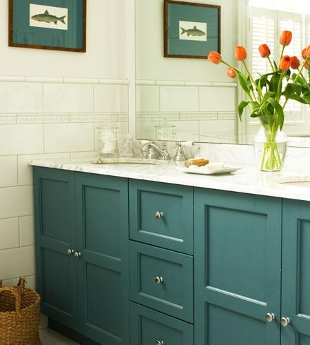 blue bathroom cabinets i heart home decor pinterest