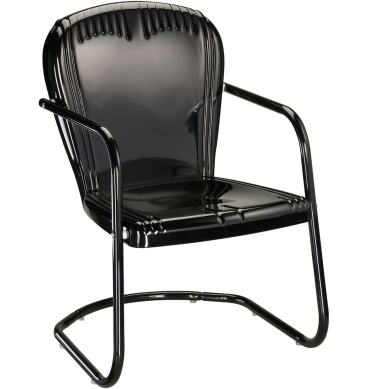 Black Metal Outdoor Chair Gardens