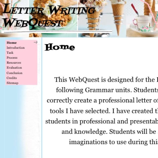 writing essay webquest