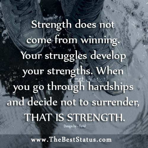 wallets Strength Does Not Come From Winning  So True