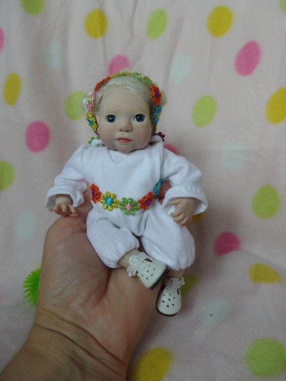 Ooak polymer clay baby bonita by wee1snursery on etsy 60 00