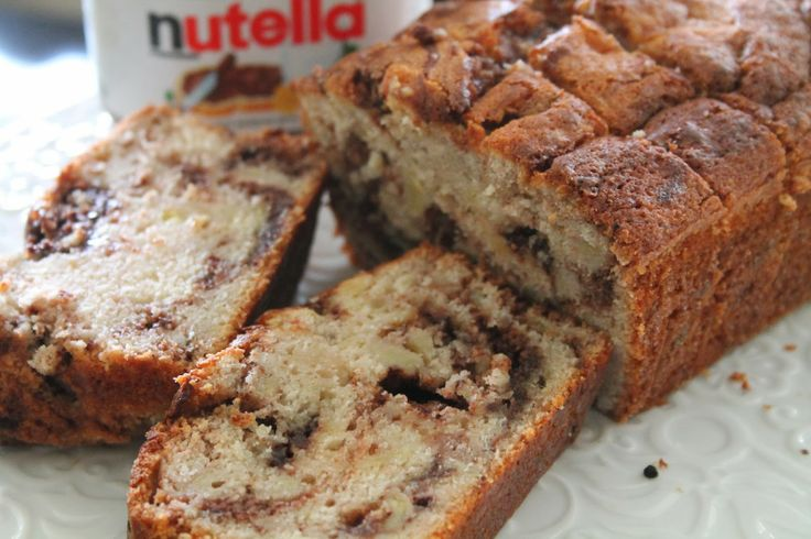Nutella Swirled Banana Bread | Breads & Dips & Cheese | Pinterest