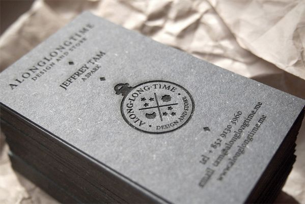 engraved business card